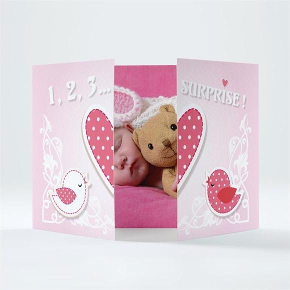 Faire-part naissance Annonce avec un gros coeur ! réf.N70109