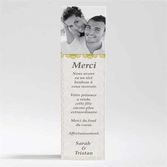 Remerciement mariage Jaune poussin réf.N20030