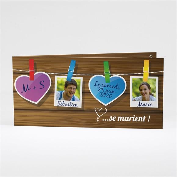 Faire-part mariage Romantique et sympa réf.N43102