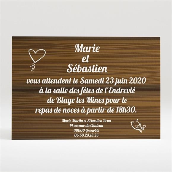 Carton d'invitation mariage Romantique et sympa réf.N12084