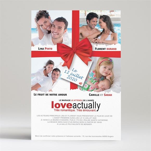 Faire-part mariage Love actually réf.N24001