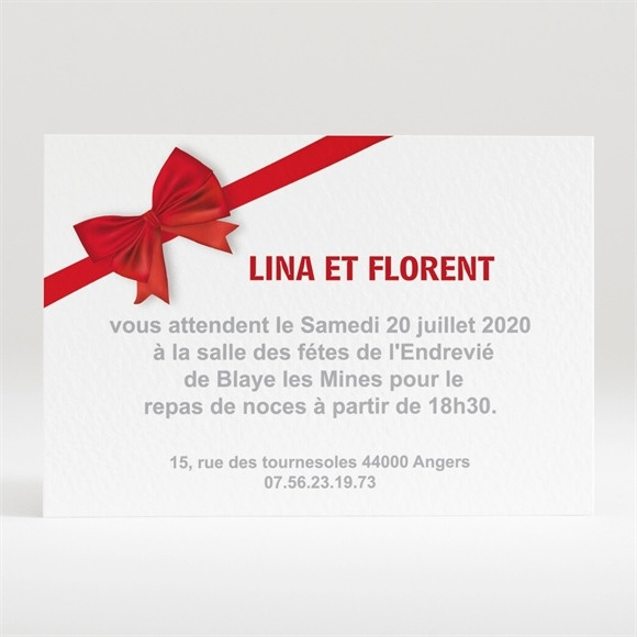 Carton d'invitation mariage Love actually réf.N12086