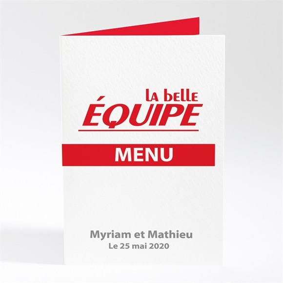 Menu mariage La Belle Equipe réf.N40139