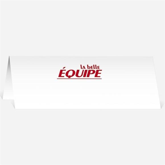 Marque-place mariage La Belle Equipe réf.N44007