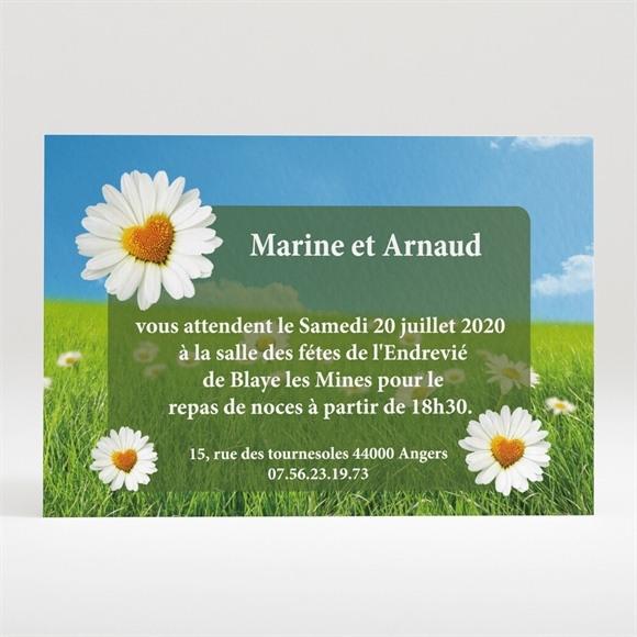 Carton d'invitation mariage Notre mariage est dans le pré réf.N12088