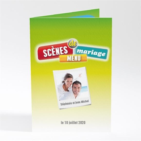 Menu mariage Scènes de mariage originales réf.N40141