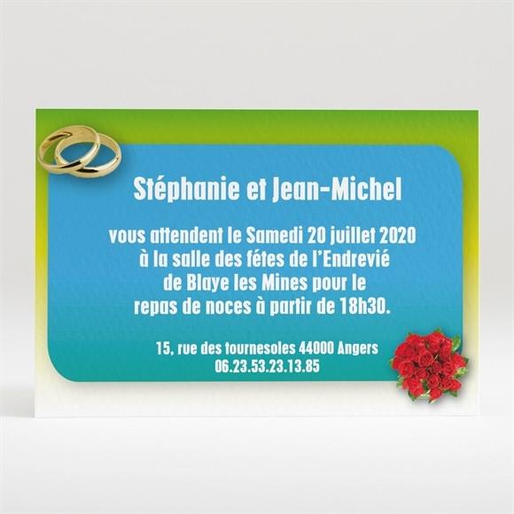Carton d'invitation mariage Scènes de mariage originales réf.N12089
