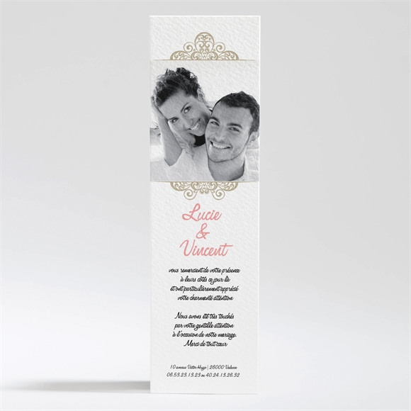 Remerciement mariage Carte multi photo mariage réf.N20040