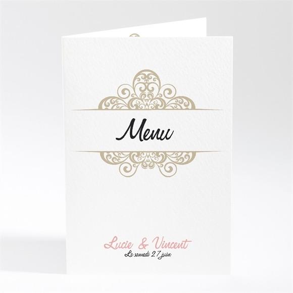 Menu mariage Carte multi photo mariage réf.N40143