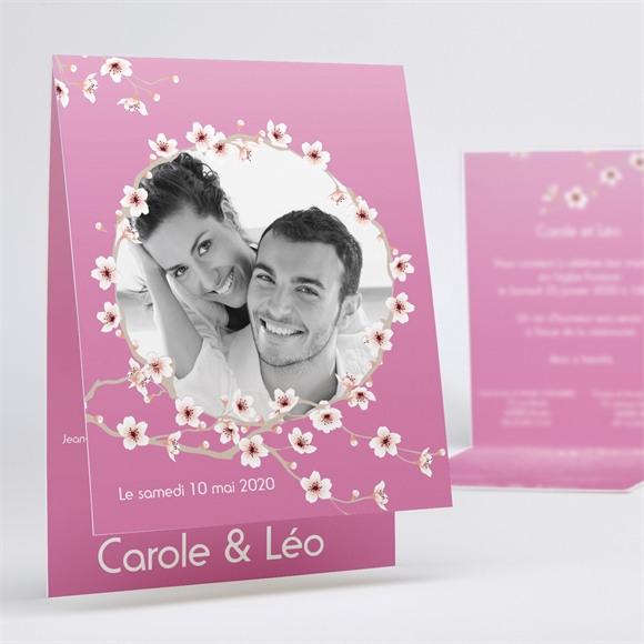 Faire-part mariage Jolie carte invitation mariage réf.N50114