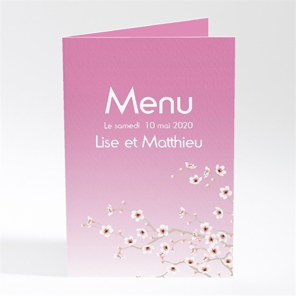 Menu mariage Jolie carte invitation mariage réf.N40147