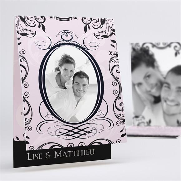 Faire-part mariage Joli médaillon vintage réf.N50115