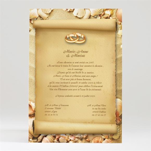 Faire-part mariage Parchemin vintage réf.N24004