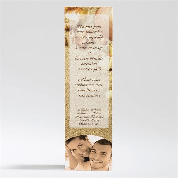 Remerciement mariage Parchemin vintage réf.N20048