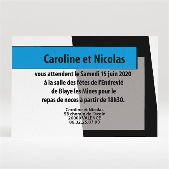 Carton d'invitation mariage Entre Nous réf.N120101