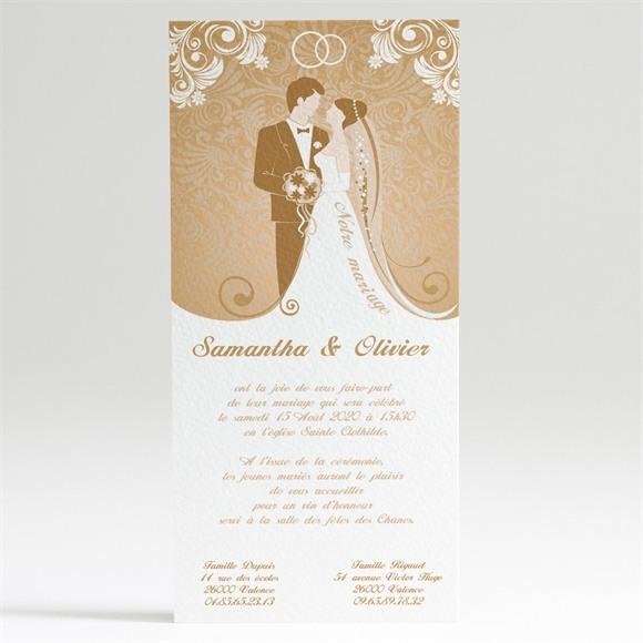 Faire-part mariage Beige et blanc réf.N22012