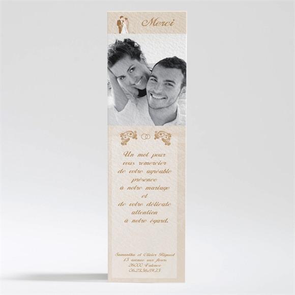 Remerciement mariage Beige et blanc réf.N20047