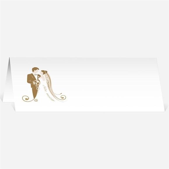 Marque-place mariage Beige et blanc réf.N44018