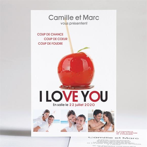 Faire-part mariage I love you réf.N24105
