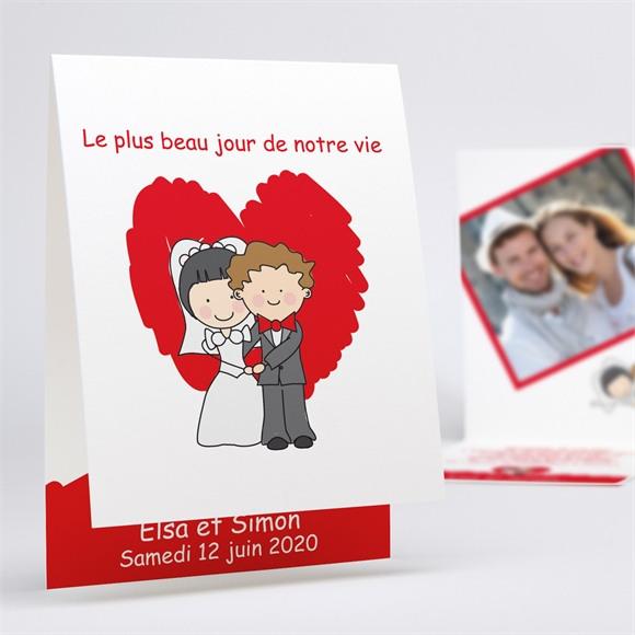 Faire-part mariage Les 2 mariés illustrés réf.N50116
