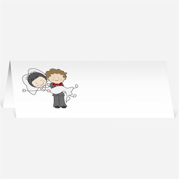 Marque-place mariage Les 2 mariés illustrés réf.N44024