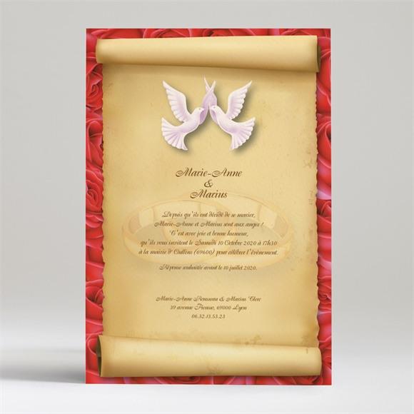 Faire-part mariage Nos deux colombes réf.N24006
