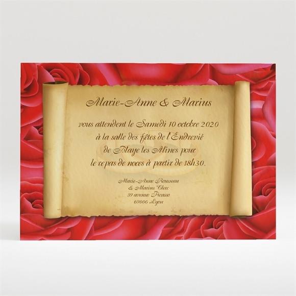 Carton d'invitation mariage Nos deux colombes réf.N120105