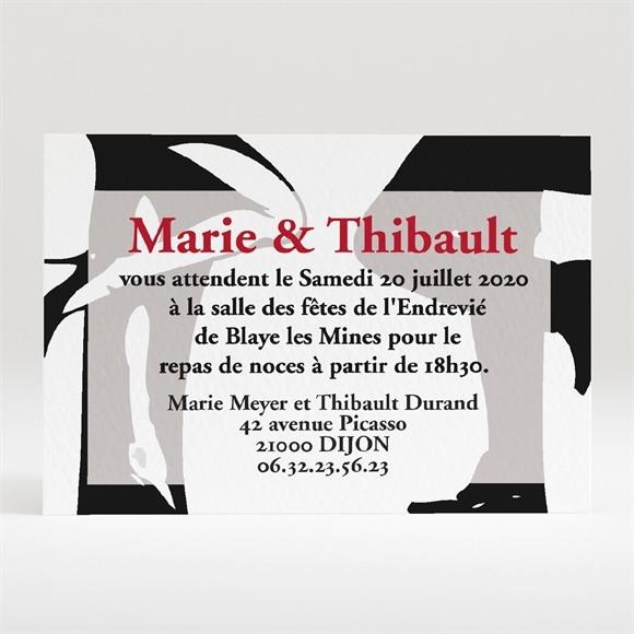 Carton d'invitation mariage Mr & Mrs réf.N120104