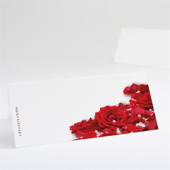 Marque-place mariage Roses rouge et perles réf.N44027