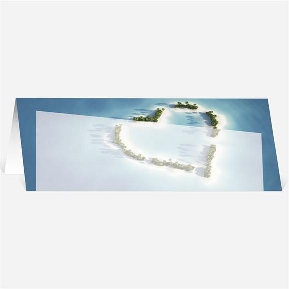 Marque-place mariage Eaux turquoises réf.N44020