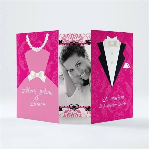Faire-part mariage Tenue de Gala réf.N70111