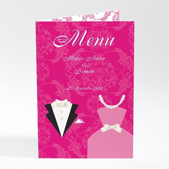 Menu mariage Tenue de Gala réf.N40161