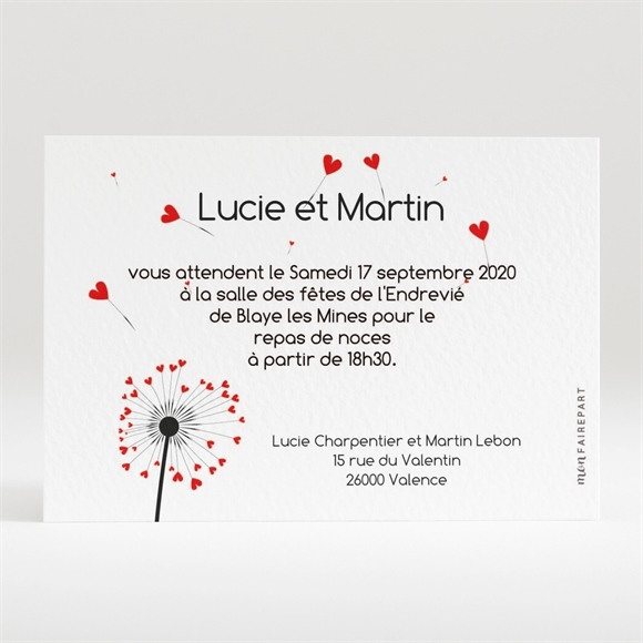 Carton d'invitation mariage Un Oui en photo réf.N120110