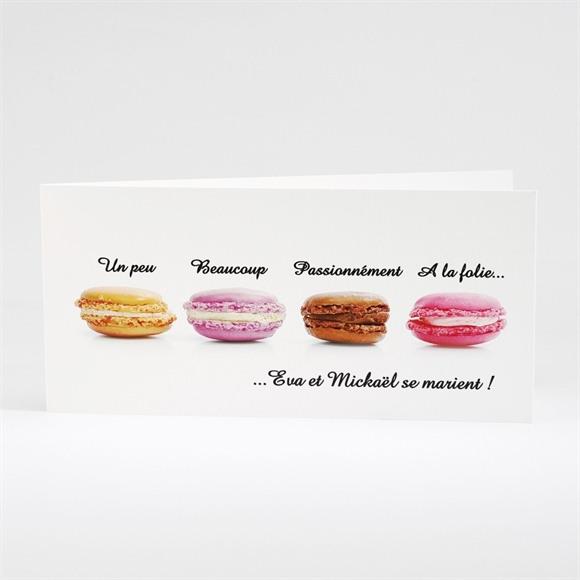 Faire-part mariage Jolis macarons réf.N43105