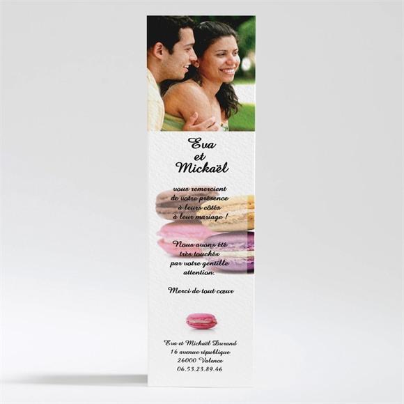 Remerciement mariage Jolis macarons réf.N20063