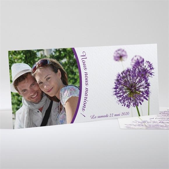 Faire-part mariage Fleurs au vent réf.N13103