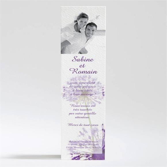 Remerciement mariage Fleurs au vent réf.N20065