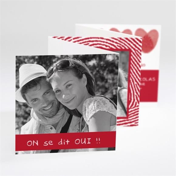 Faire-part mariage Faire part Rouge et blanc réf.N80009