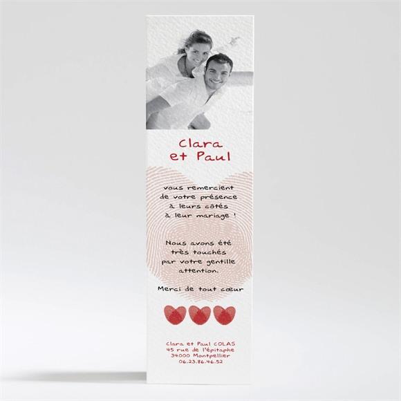 Remerciement mariage Faire part Rouge et blanc réf.N20061