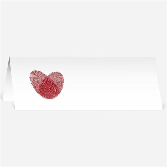 Marque-place mariage Faire part Rouge et blanc réf.N44032