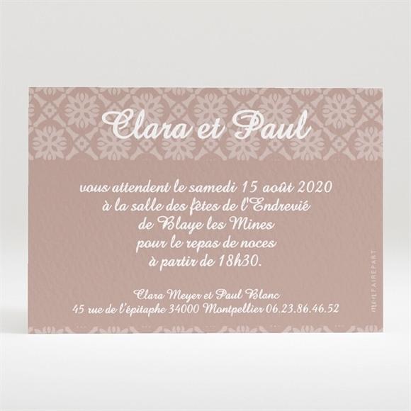 Carton d'invitation mariage Le Médaillon des Amoureux réf.N120120