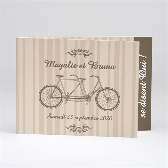 Faire-part mariage Vélo vintage réf.N51108