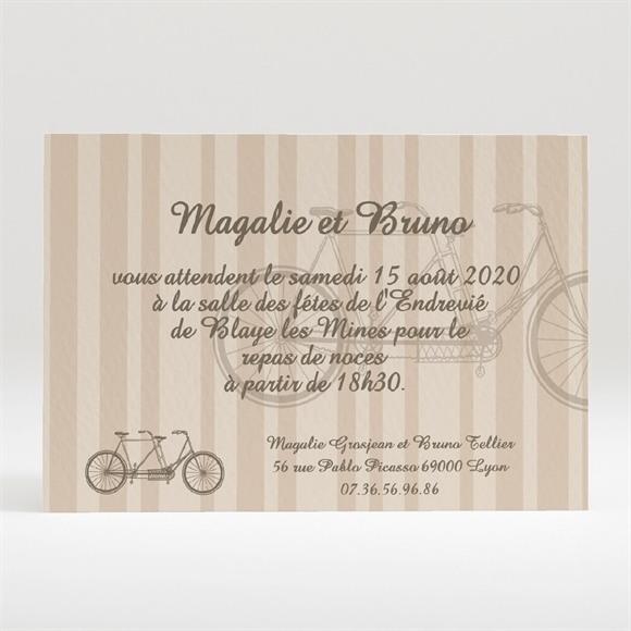 Carton d'invitation mariage Vélo vintage réf.N120124