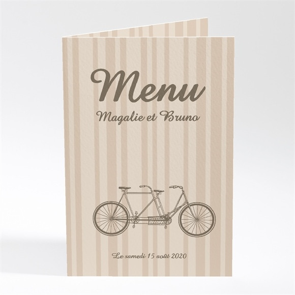 Menu mariage Vélo vintage réf.N40177
