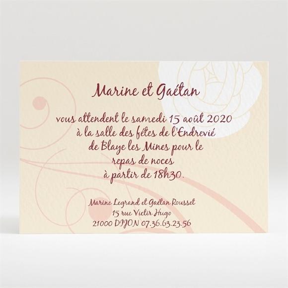 Carton d'invitation mariage Original beige photo réf.N120126