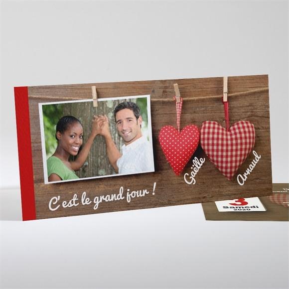 Faire-part mariage Idylle réf.N13104