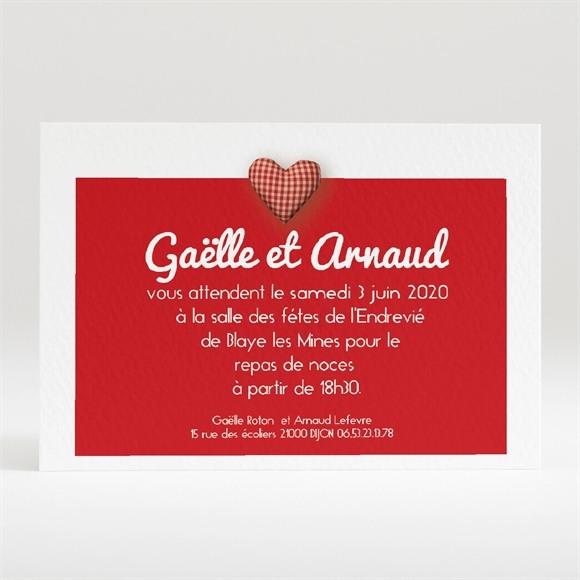 Carton d'invitation mariage Idylle réf.N120125