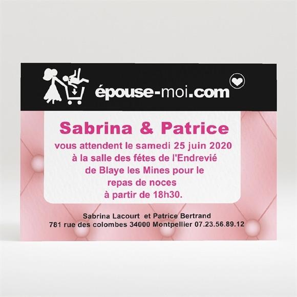 Carton d'invitation mariage Site de rencontre réf.N120128