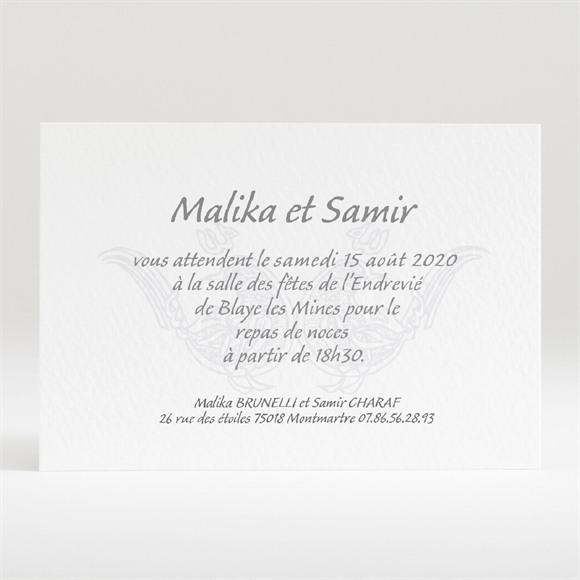 Carton d'invitation mariage Mariage authentique réf.N120131