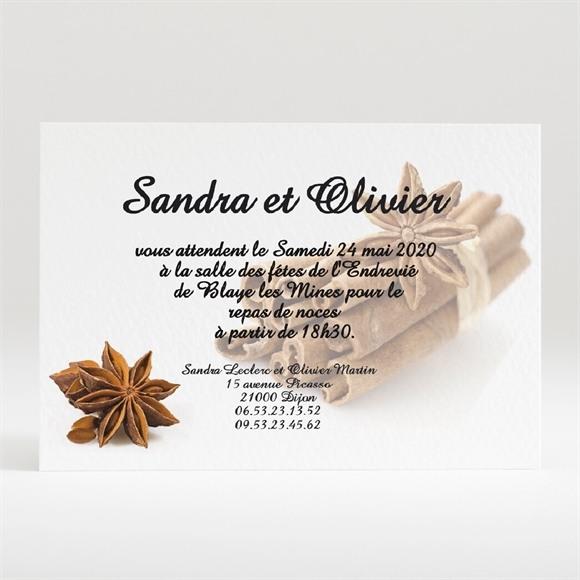 Carton d'invitation mariage Etoiles anis réf.N120117
